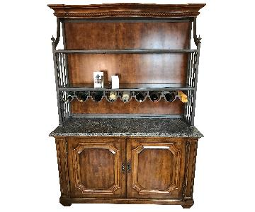 Century Solid Wood Credenza w/ Detachable Wine Rack