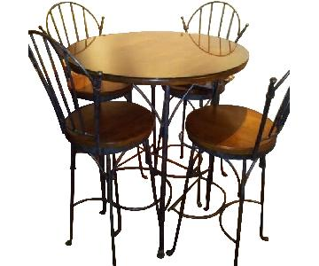 Brent Jacobs Pub Table w/ Removable Glass Top & 4 Chairs