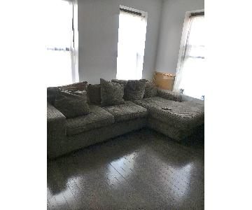 Dark Green 2-Piece Sectional Sofa