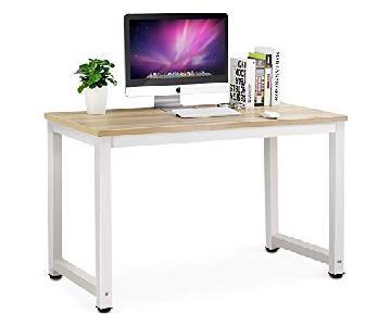 Tribesigns Computer Desk in Light Walnut