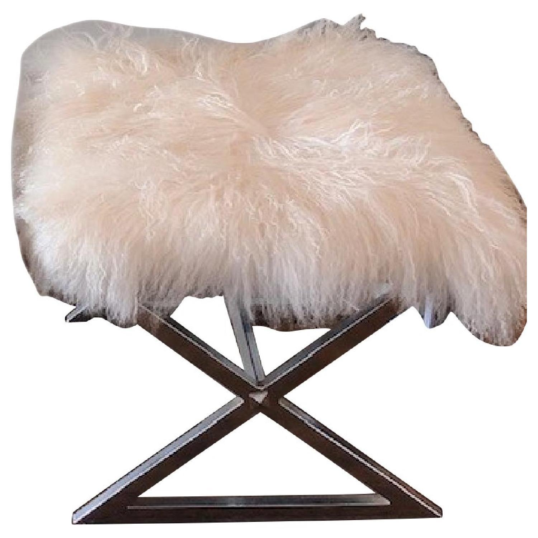 Incredible Mongolian Fur Ottomans Aptdeco Alphanode Cool Chair Designs And Ideas Alphanodeonline