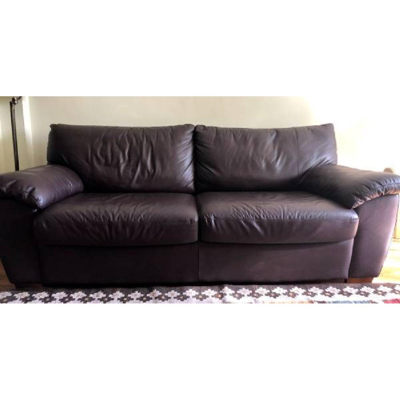 Groovy Ikea Vreta Brown Leather Sleeper Sofa Aptdeco Andrewgaddart Wooden Chair Designs For Living Room Andrewgaddartcom