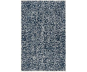 Safavieh Navy Blue and Ivory Area Rug