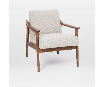 West Elm Mid-Century Show Wood Upholstered Chair