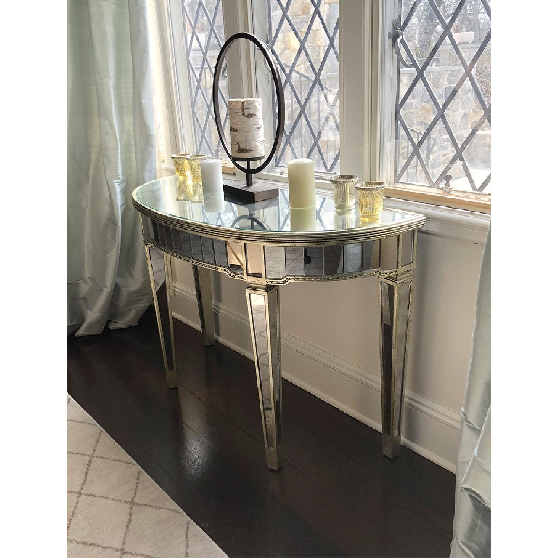 Martha Stewart Half-Moon Mirrored Table in Antiqued Finish-1