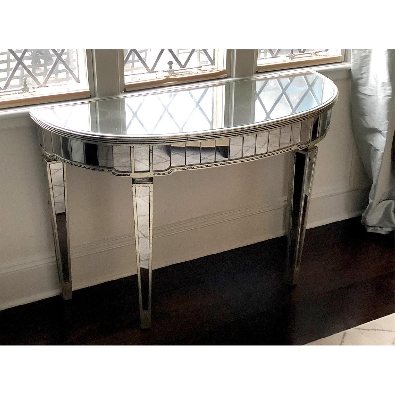 Martha Stewart Half-Moon Mirrored Table in Antiqued Finish-2