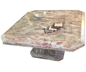Linea Italia Pink & Gray Italian Marble Cocktail Table