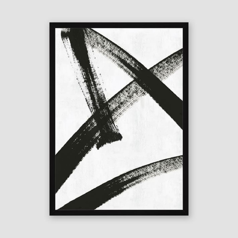 West Elm Framed Print - Running Man-2