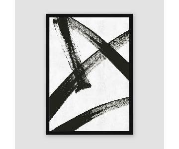 West Elm Framed Print - Running Man