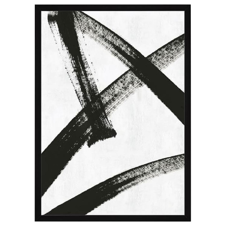 West Elm Framed Print - Running Man - image-0