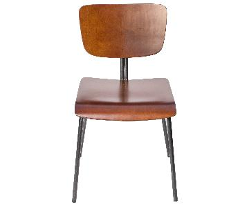 Reed Wood & Metal Dining Chairs