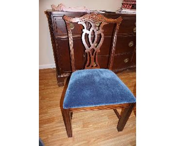 Vintage Chippendale Style Mahogany Side Accent Chairs