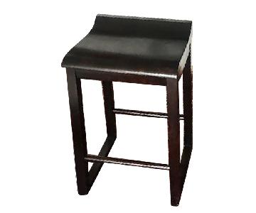 A&G Merch Brown Wood Stools