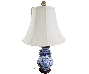 Blue & White Patterned Table Lamps