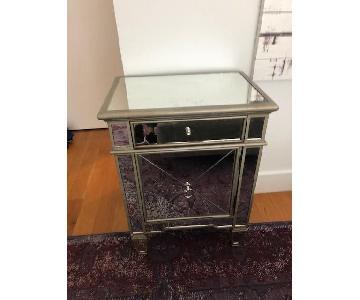 A&G Merch Mirrored Nightstand/Cabinet