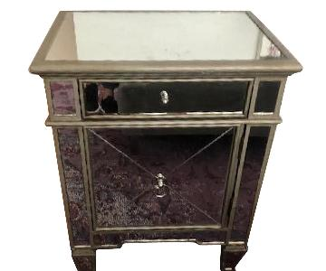 A&G Merch Mirrored Nightstand/Cabinet