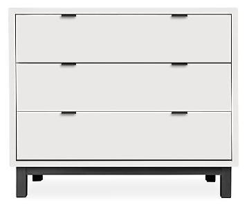 Room & Board Copenhagen Dresser in White w/ Black Hardware