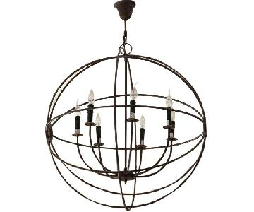 Restoration Hardware Rustic Iron Orb Chandelier