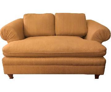 Upholstered Roll Arm Loveseat