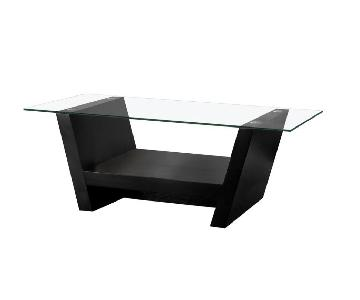 Furniture of America Vandella Glass Coffee Table