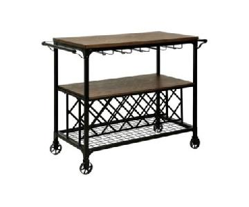 Furniture of America Milton Industrial Serving Cart