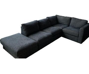 Ikea Vimle 4 Piece Corner Sectional Sofa & Storage Ottoman