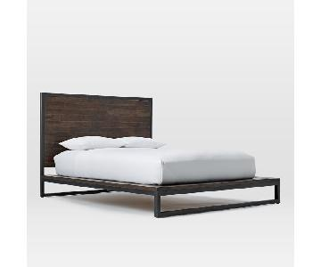 West Elm Logan Industrial Platform Bed