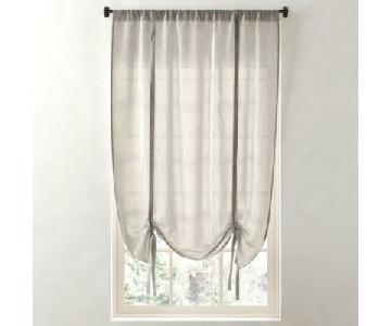 Restoration Hardware Tie Up Linen Shades/Curtains