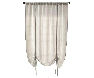 Restoration Hardware Tie Up Linen Shades/Curtains