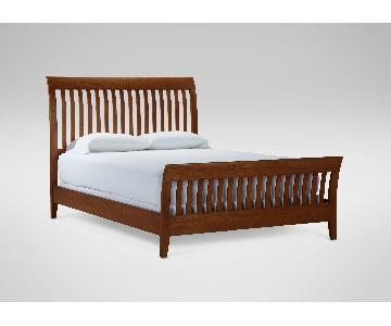 Ethan Allen Solid Wood King Bed