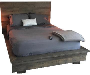 Custom Made Solid Walnut Platform Bed