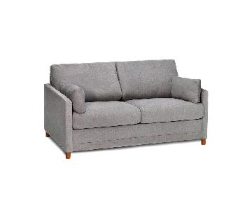 Jennifer Convertibles Modern Full Sleeper Sofa in Grey