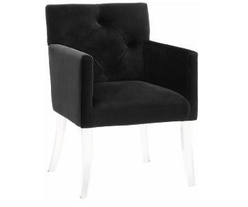 TOV Furniture Black Velvet Acrylic Chair