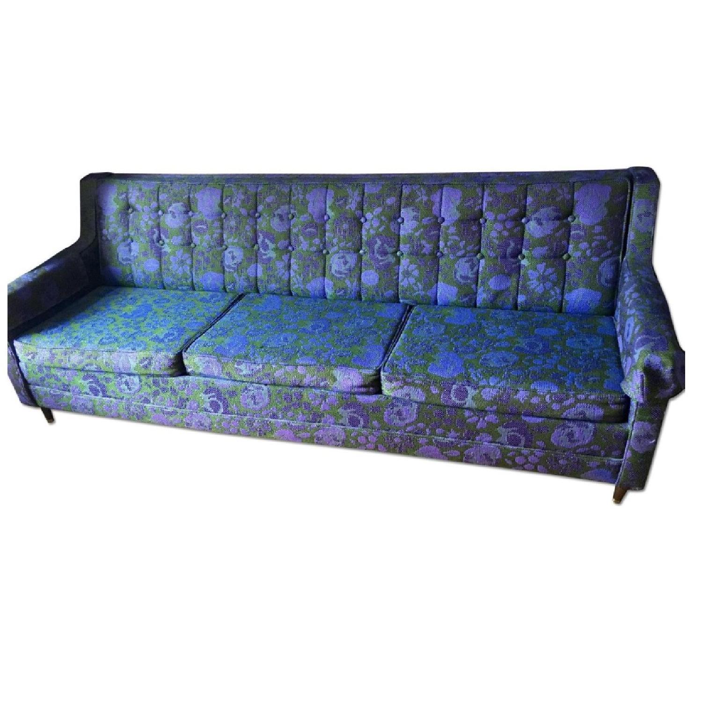 Image of: Vintage Mid Century Modern Floral Ombre Sleeper Sofa Aptdeco