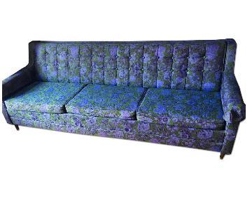 Vintage Mid-Century Modern Floral Ombre Sleeper Sofa