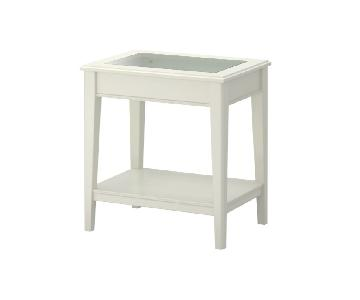 Ikea Liatorp Side Table in White Glass