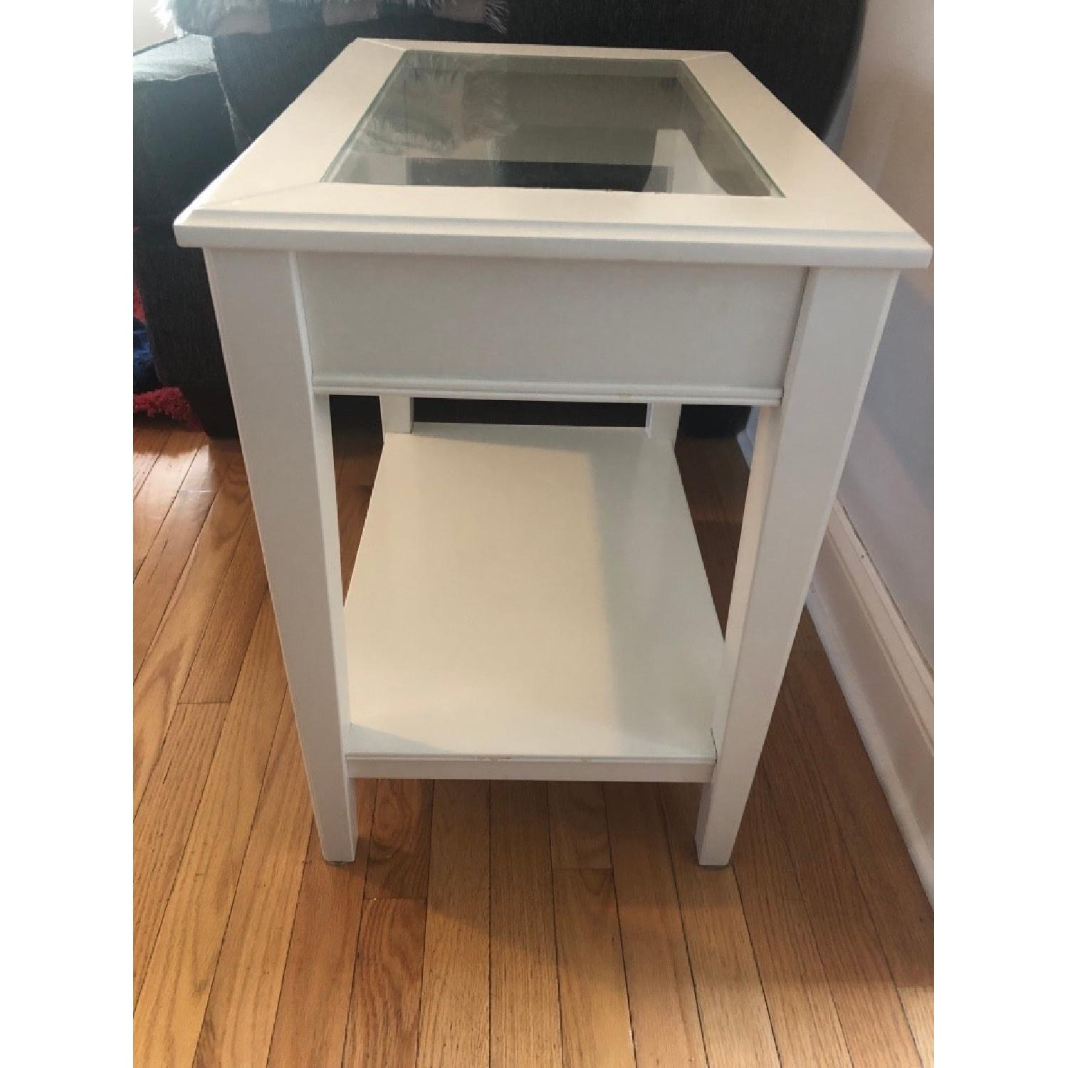 Ikea Liatorp Side Table in White Glass-2