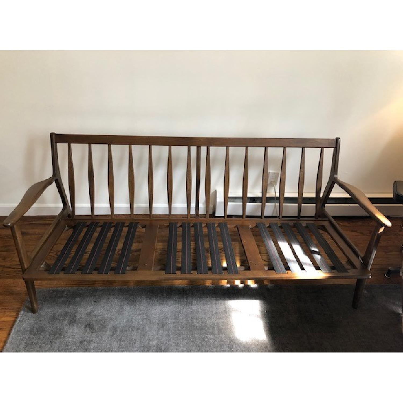 Vintage Mid Century Modern Wood Frame Sofa