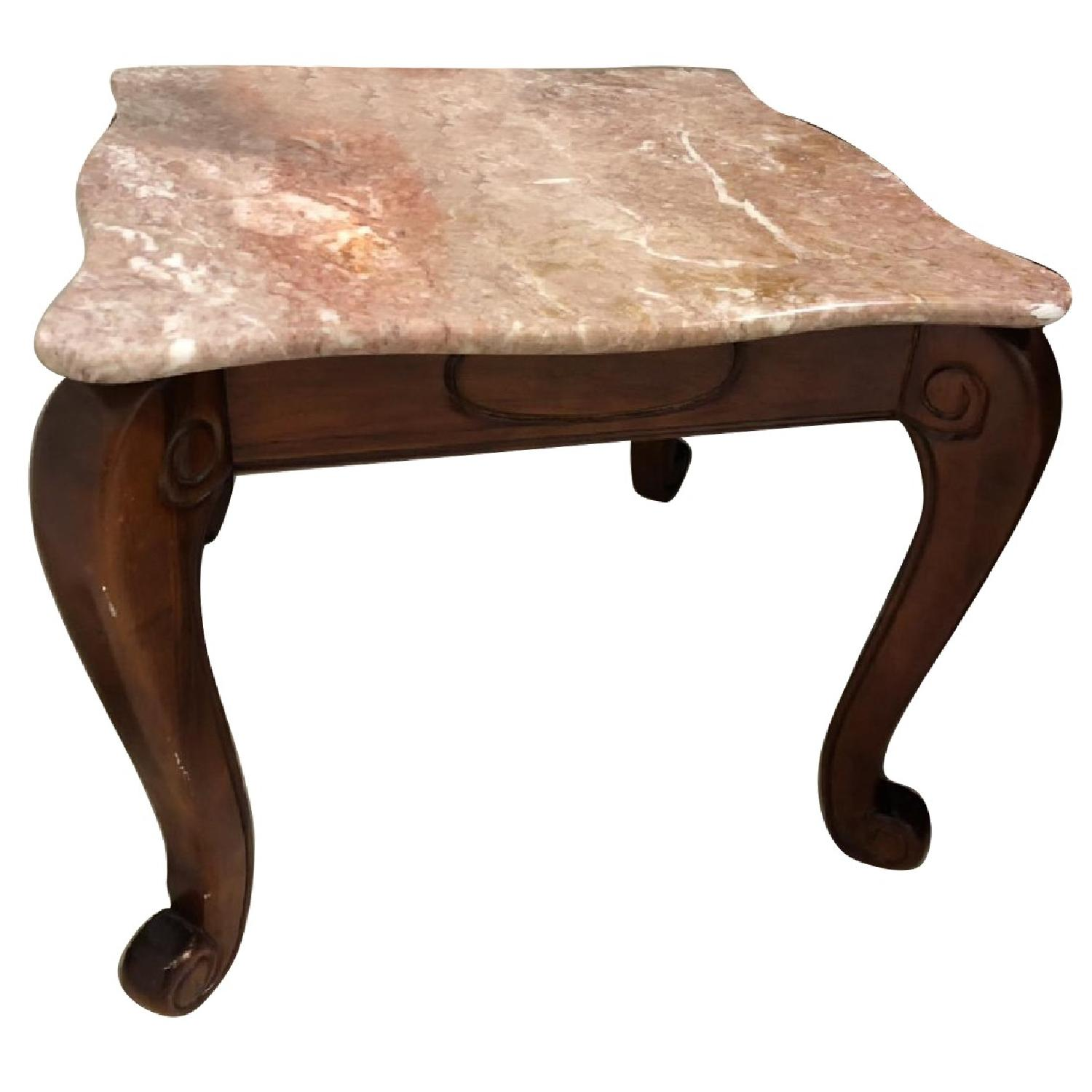 Marble Coffee Table + End Table