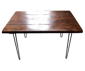 Wooden Dining/Kitchen Table w/ Metal Legs