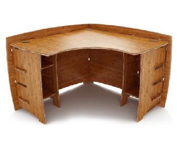 Legare Furniture Modern Bamboo Corner Office Desk