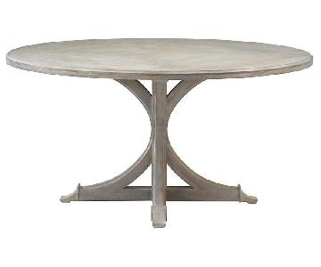 One Kings Lane Round Distressed Oak Dining Table