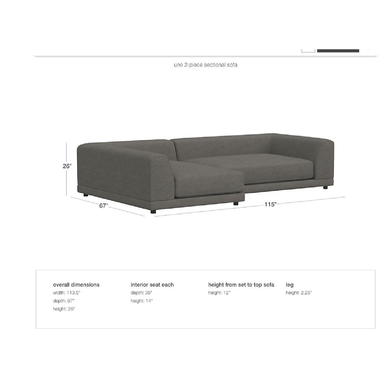 Wondrous Cb2 Uno 2 Piece Sectional Sofa Aptdeco Pdpeps Interior Chair Design Pdpepsorg