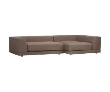 CB2 Uno 2-Piece Sectional Sofa