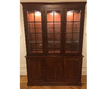 Ethan Allen Buffet w/ Hutch/China Cabinet