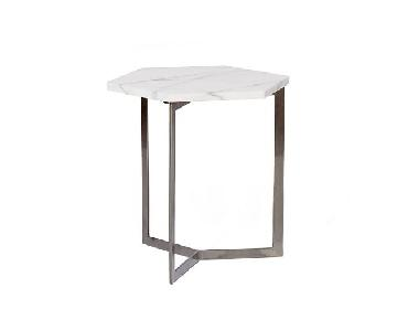 West Elm Hex Marble Side Table