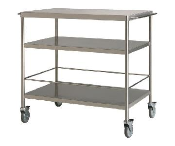 Ikea Flytta Stainless Steel Rolling Kitchen Cart