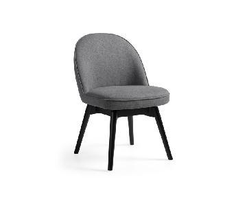 Arhaus Emily Grey Swivel Chairs