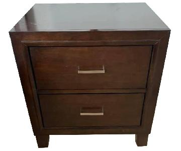 2-Drawer Bedside Table/Nightstand