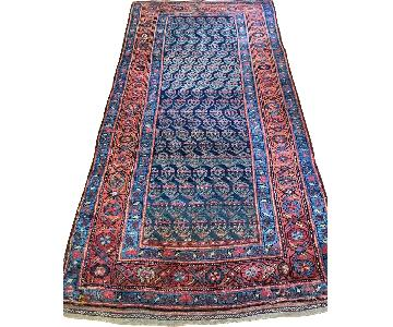 Antique Kurdish Wool Low Pile Rug